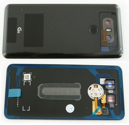 LG G6 KLAPKA BATERII BATTERY COVER BLACK CZARNY